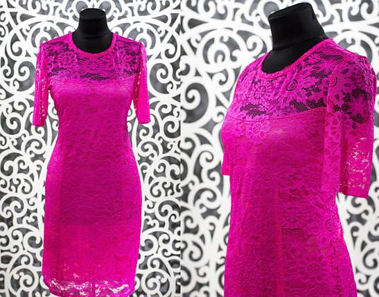 """Нежное женское платье """"гипюр на подкладке из Хлопок+стрейч"""" с 48, 50, 52, 54, 56 размер батал, фото 2"""