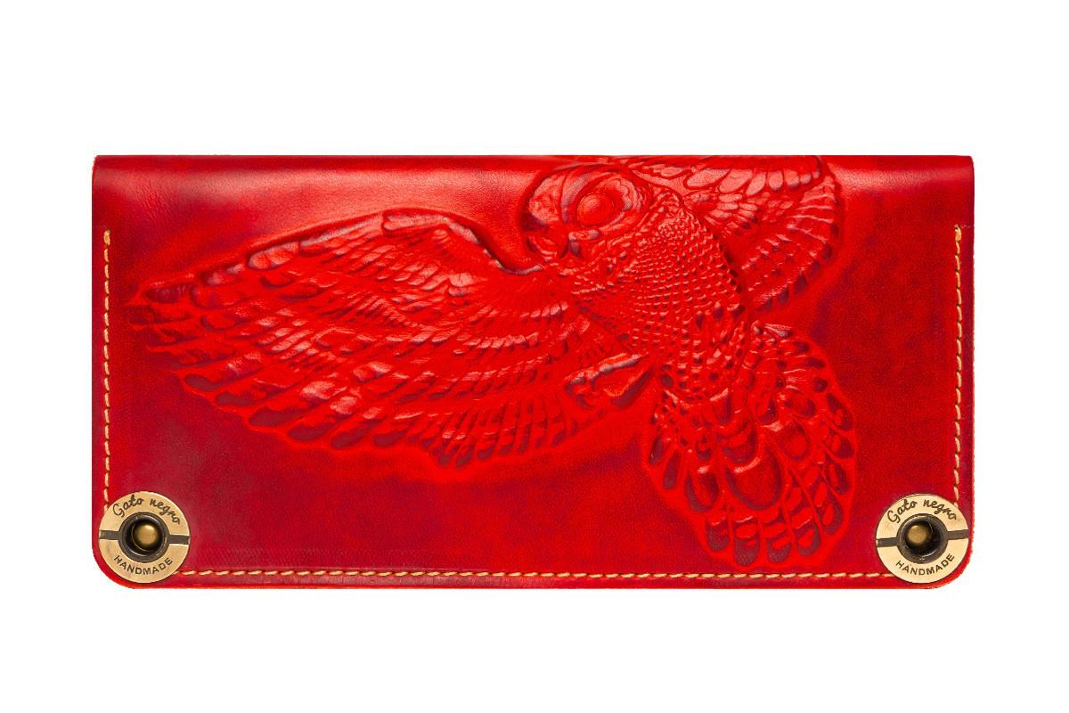 Кошелек кожаный Owl Red