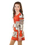 Интересное платье с необычайным узором в геометрическом стиле для девочки  134-152р, фото 3