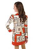 Интересное платье с необычайным узором в геометрическом стиле для девочки  134-152р, фото 4