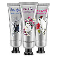Набор кремов для рук увлажняющий цветочный BIOAQUA Cat Garden (30мл*3шт)