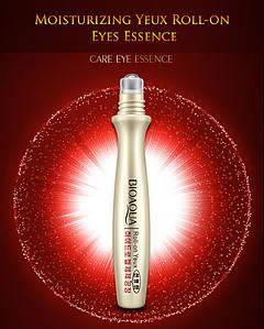 Сыворотка для кожи вокруг глаз с гиалуроновой кислотой и жемчугом с роликом BIOAQUA Bright Eyes Essence (15г)