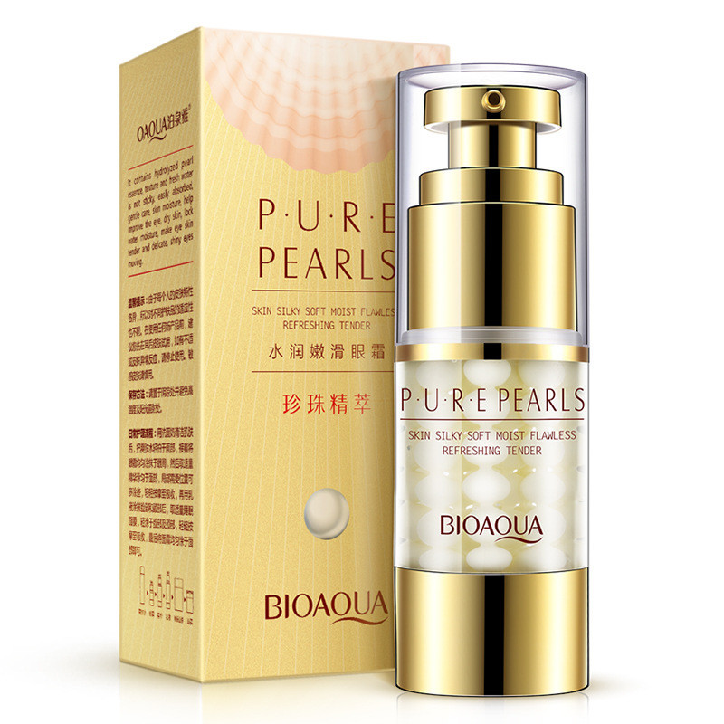 Крем для кожи вокруг глаз с экстрактом жемчуга разглаживающий BIOAQUA Pearl Essentials Eye Serum (25мл)