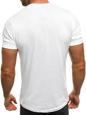 Стильная мужская футболка белого цвета, фото 2