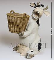 Кашпо Корова с корзиной 36 см GG-4702 LD