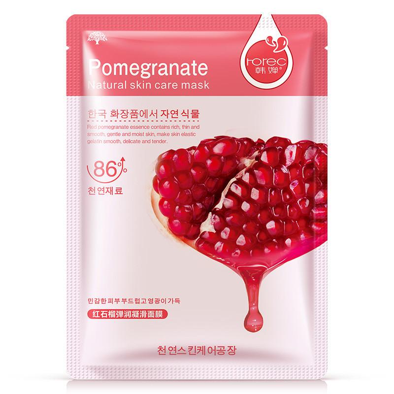 Маска-серветка для особи з гранатом вирівнює ROREC Pomegranate (30г)