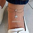 Браслет на ногу с висюльками серебро 925, фото 2