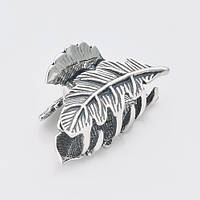 Серебряная заколка краб для волос 9308