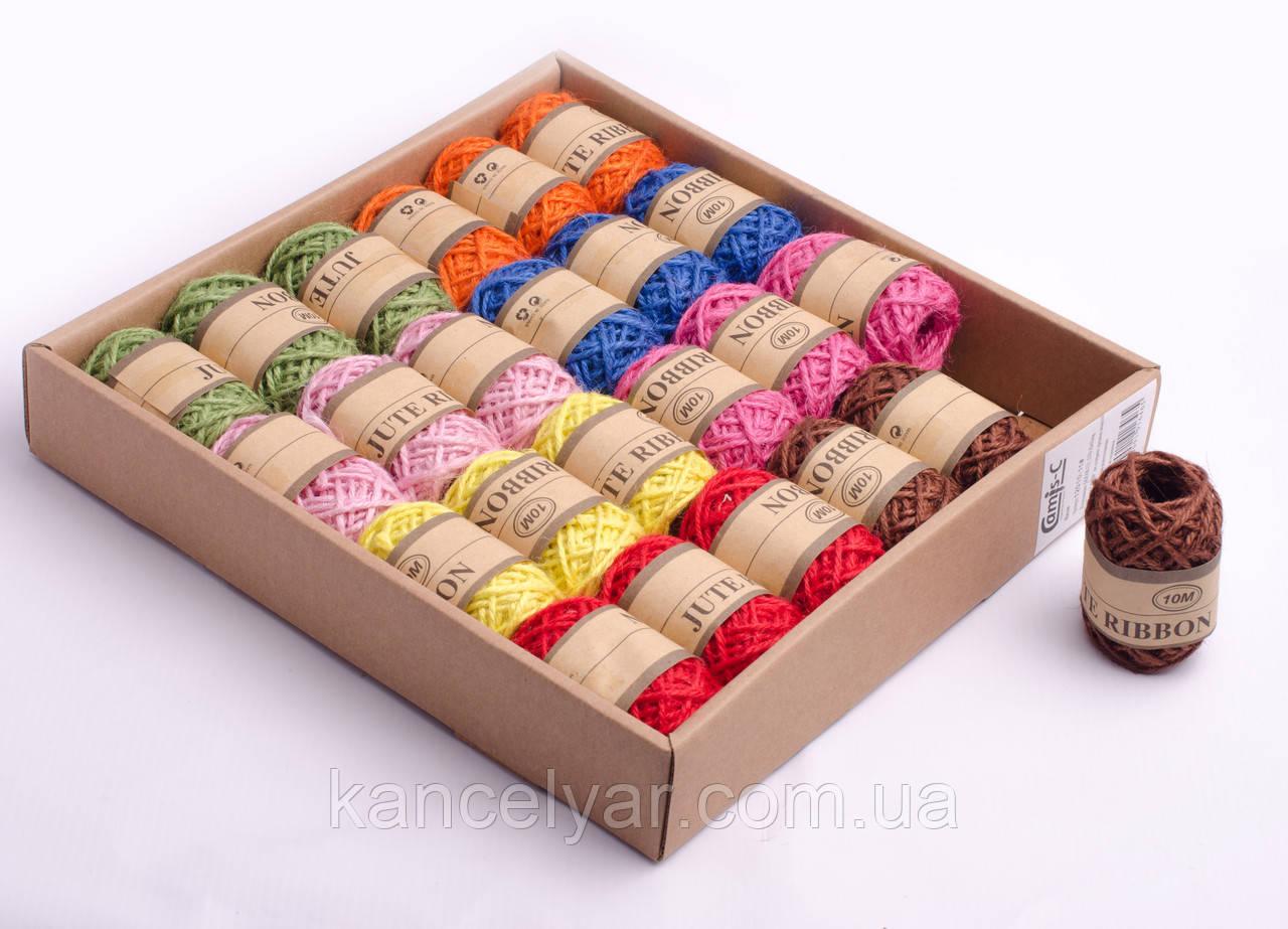 Шнуровка-нитка для декора цветная, 10 м, в ассортименте