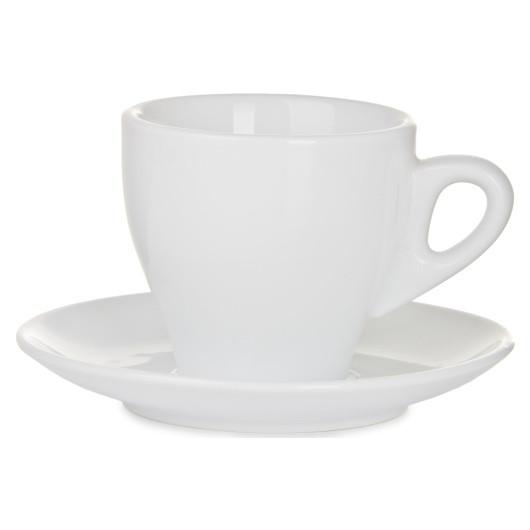 Чашка с блюдцем , Фарфоровый набор LUCANO 240 мл