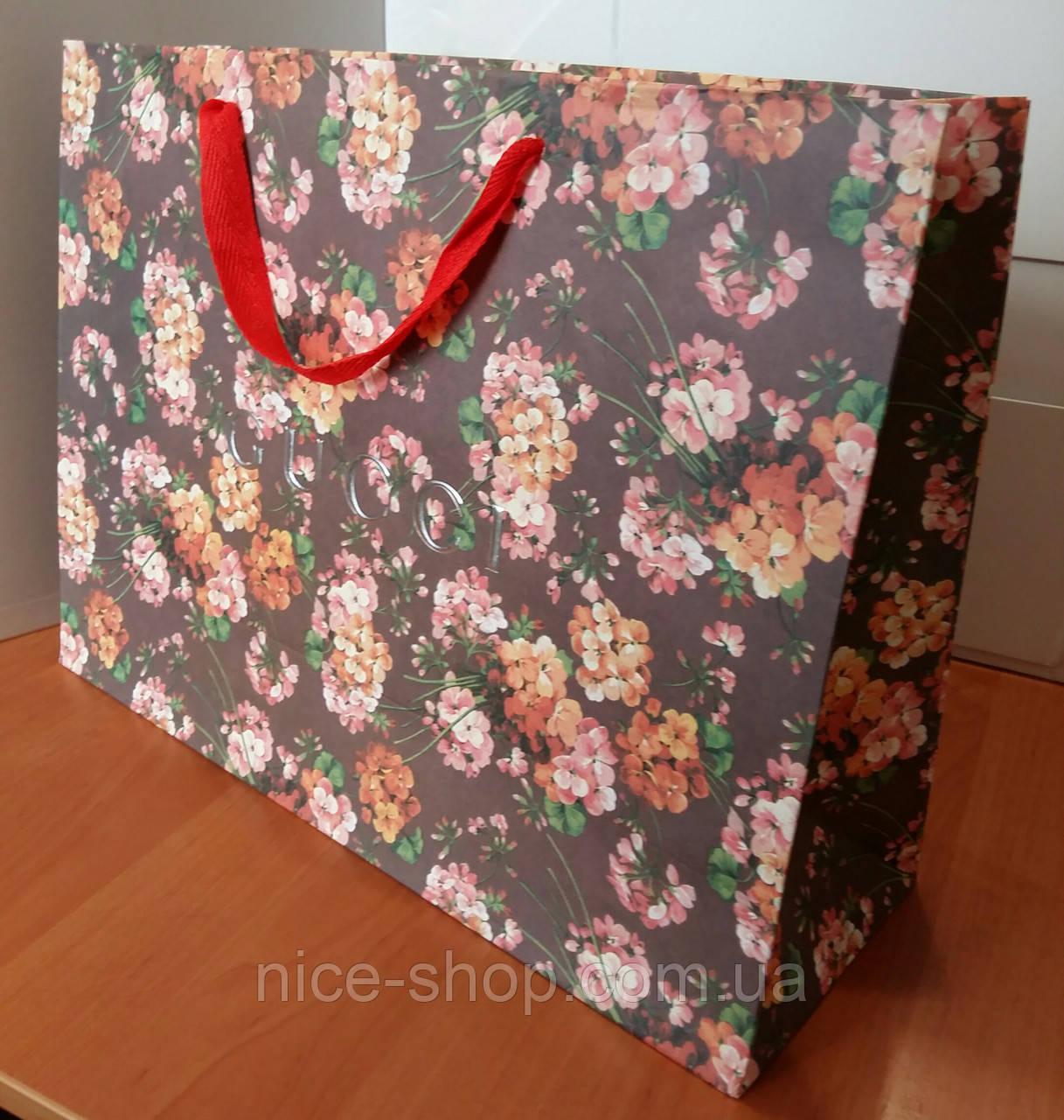 Подарунковий пакет Gucci: горизонталь, махі