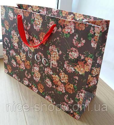 Подарунковий пакет Gucci: горизонталь, махі, фото 3