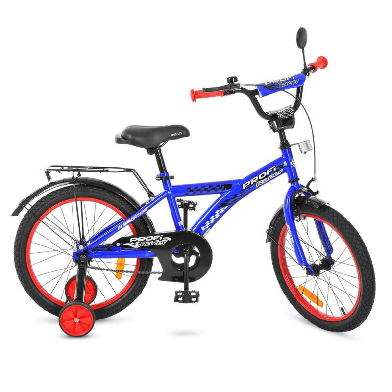 Дитячий двоколісний велосипед PROFI 18 дюймів Racer, синій, T1833