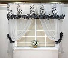 """Кухонные шторы """"Пенелопа"""" Серая, фото 2"""