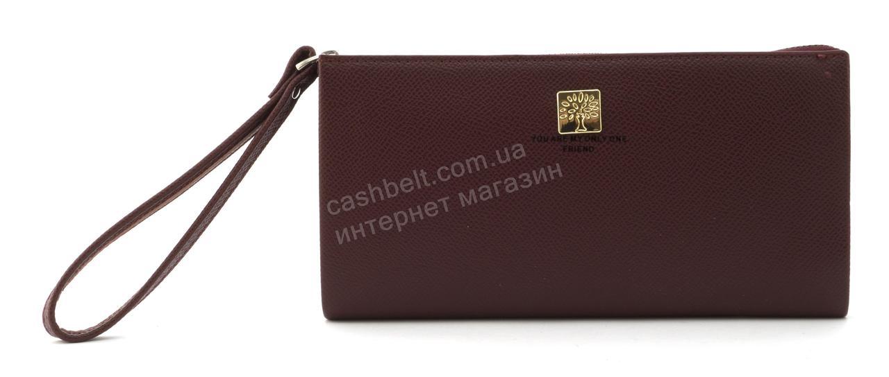 Стильный прочный удобный женский кошелек барсетка высокого качества FUERDANNI art. FA120 бордовый