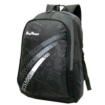 Рюкзак BagHouse городской, чёрный 29х46х22 ткань нейлон  к 6603