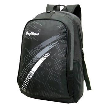 Рюкзак BagHouse городской, чёрный 29х46х22 ткань нейлон  к 6603, фото 2
