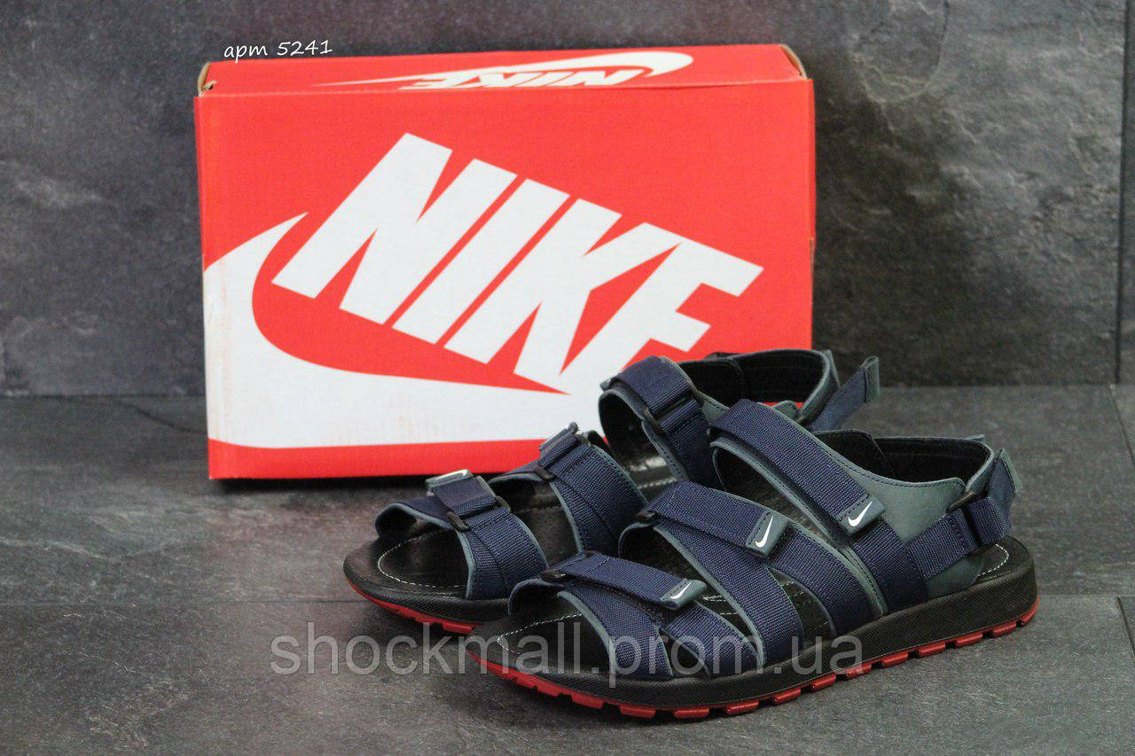 a56b654f Босоножки Nike мужские сандалии синие реплика - Интернет магазин ShockMall  в Киеве