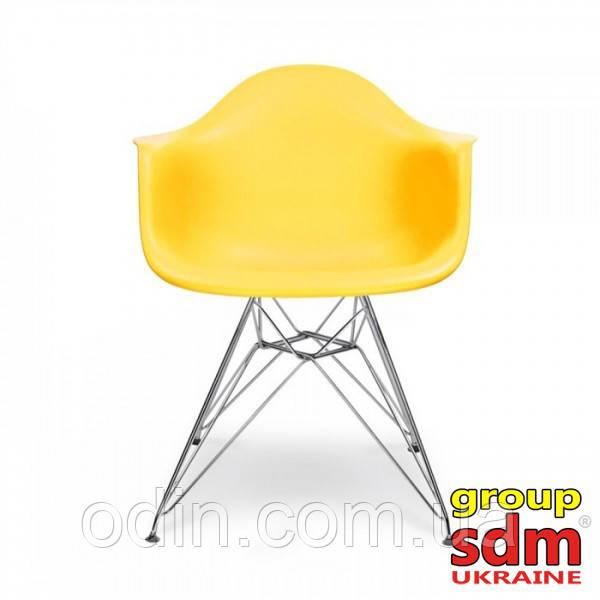 Кресло Тауэр, пластиковое сиденье, ножки хромированные, цвет желтый SDMPC18YEL