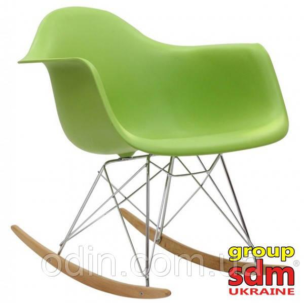 Кресло-качалка Тауэр R, на полозьях из бука, пластик абс, цвет зеленый SDMPC018GRR