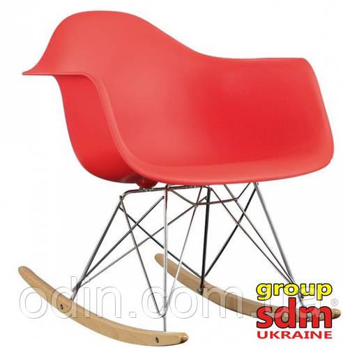 Кресло-качалка Тауэр R, полозья буковые, пластик, цвет красный towrre