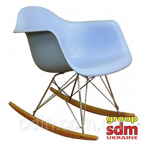 Крісло-гойдалка Тауер R, полози бук, пластик, колір блакитний SDMPC018BLUR