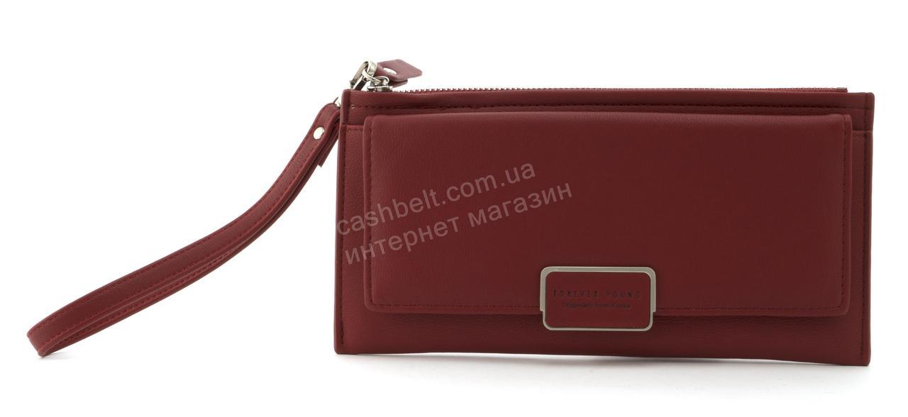 Стильный прочный удобный женский кошелек барсетка высокого качества TAILIAN art. T4601-002 бордовый