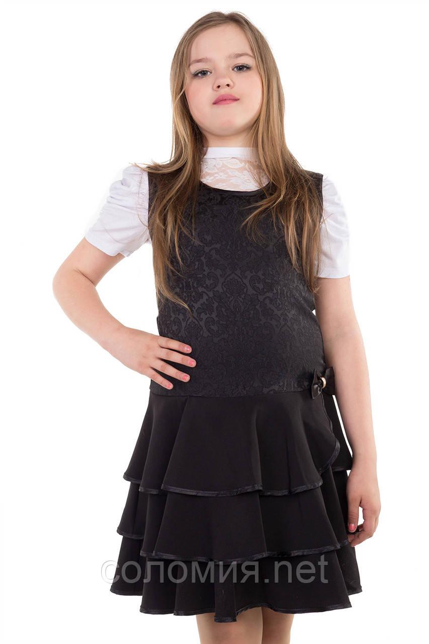 Нарядный школьный сарафан для девочек 128-152р