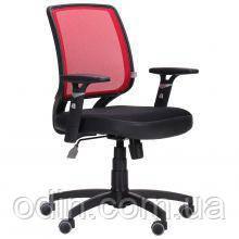 Крісло Онлайн сидіння Сітка чорна/спинка Сітка червона 117043