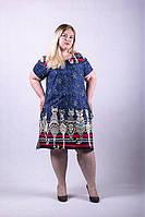 Женское платье больших размеров. Кошки.