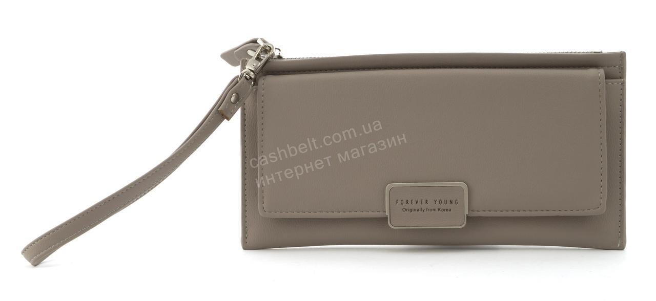 Стильный прочный удобный женский кошелек барсетка высокого качества TAILIAN art. T4601-002 серый