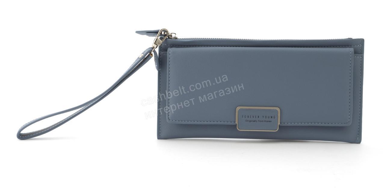 Стильный прочный удобный женский кошелек барсетка высокого качества TAILIAN art. T4601-002 голубой