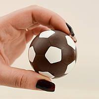 """Шоколадная фигура """"Футбольный мяч черный"""" Ф-40 КЛАССИЧЕСКОЕ сырье. Размер: Ø52мм, вес 50г, фото 1"""