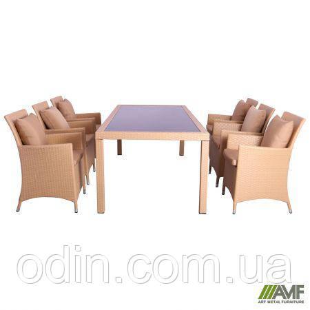 Комплект мебели Samana-6 из ротанга Elit (SC-8849) Sand AM3041 ткань A14203 516809