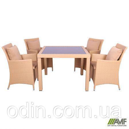 Комплект мебели Samana-4 из ротанга Elit (SC-8849-S2) Sand AM3041 ткань A14203 516815