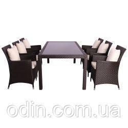 Комплект мебели Samana-6 из ротанга Elit (SC-8849) Brown MB1034 ткань A13815 516812