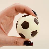 """Шоколадная фигура """"Футбольный мяч белый"""" Ф-40 КЛАССИЧЕСКОЕ сырье. Размер: Ø52мм, вес 50г, фото 1"""