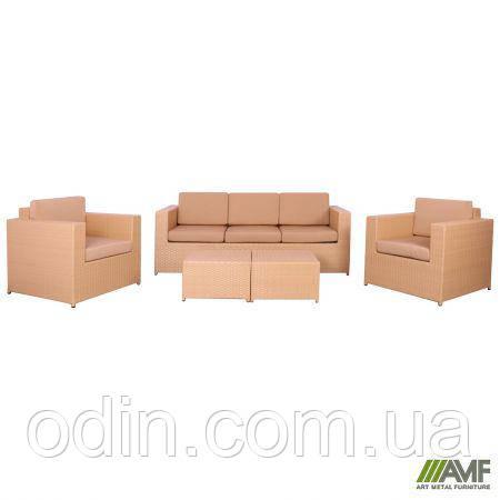 Комплект мебели Santo из ротанга Elit (SC-B9508) Sand AM3041 ткань A14203 516787