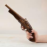 """Шоколадная фигура """"Пистолет"""" КЛАССИЧЕСКОЕ сырье. Размер: 402х128х76мм, вес 500г, фото 1"""