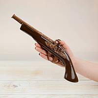 """Шоколадная фигура """"Пистолет"""" ЭЛИТНОЕ сырье. Размер: 402х128х76мм, вес 500г"""