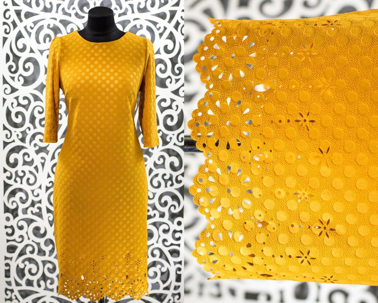"""Изумительное женское платье ткань """"Хлопок+стрейч"""" с рельефным рисунком 48,50, 52, 54 размер батал"""