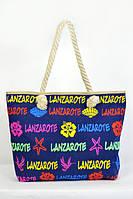 Модная женская пляжная сумка  на лето