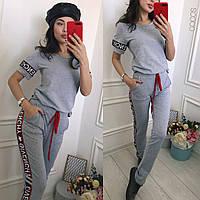 Брюки спортивные женские Светло-серый в категории костюмы женские в ... 79018bb42d6