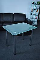 "Стол кухонный Maxi DT R 800/650 ""кайма"" стекло, хром, фото 1"