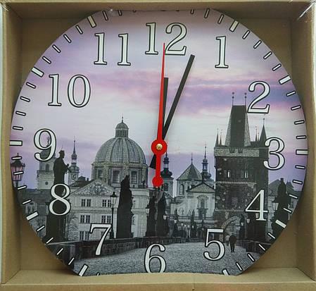 Часы-картина 33 см, без стекла, город, фото 2