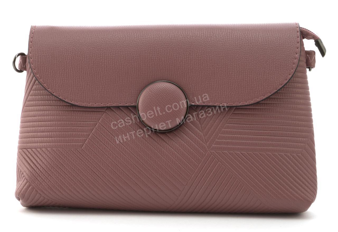 Небольшая вместительная женская сумочка барсетка OUMANYA art. 1041 розовая