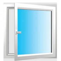 STEKO Окно м/п белое распашное 1,0 х 1,0 м