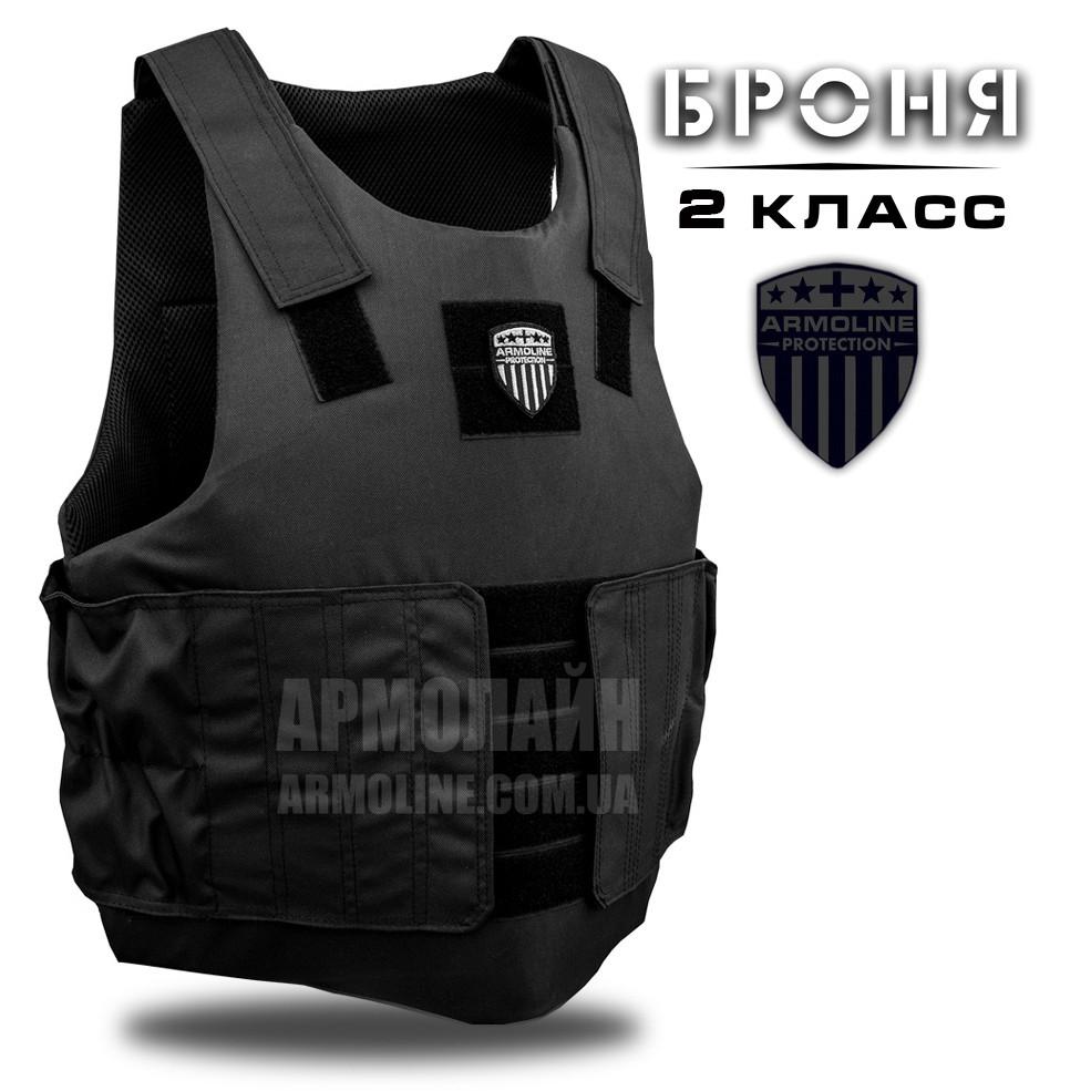 Бронежилет НВМПЭ 2 класс (Охранник М2 PRO) BLACK (ВИДЕО)