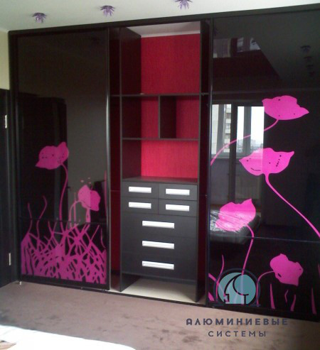 Раздвижные двери для шкафа купе лакобель