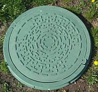 Садовый люк зелёный